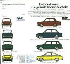Publicité Ancienne  Voiture DAF  1970   P. 31