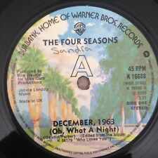 """7"""" FOUR SEASONS DECEMBER 1963 (OH WHAT A NIGHT) 1975 ."""
