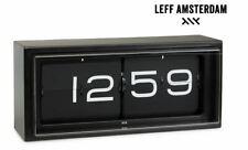 LEFF Amsterdam Brick - Design Wand- und Tischuhr Schwarz Black NEU OVP