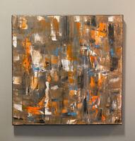 Original Abstract Acrylic Painting On Canvas 14x14, Modern Art, Contemporary Art