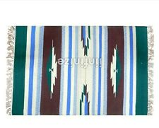 Indian Cotton Beautiful Kilim Design Rug Reversible Carpet Floor Runner 2x3'
