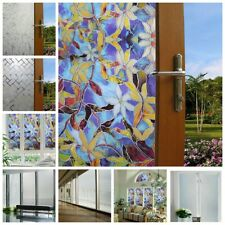 US Static Cling Frosted Stained Flower Glass Window Film Sticker Privacy Decor