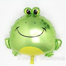 "Large Frog foil balloon 61cm x 55cm or 24"" x 22"" cute amphibian"