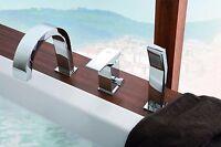 Moderne Designer 3-Loch Wannenarmatur Badewannen Wannenrand Armatur BQM Brause !