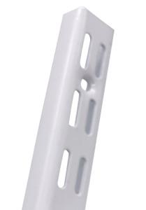 WHITE Twin Slot Shelving UK Wall Uprights Support Adjustable Racking Storage