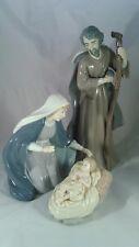 GRANDEUR NOEL HOLY FAMILY FINE PORCELAIN NATIVITY FIGURINE SET 2002 MIB