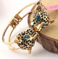 Hot Betsey Johnson Rhinestone European and American leopard head bracelet