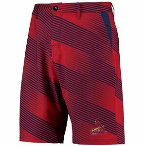 Forever Collectibles MLB Mens St. Louis Cardinals Diagonal Stripe Walking Shorts