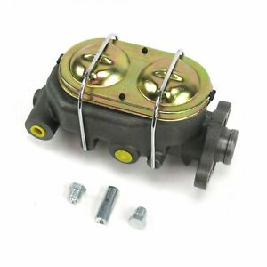 Cast Iron 1 Bore Master Cylinder, GM Corvette Style Universal with 4 ports