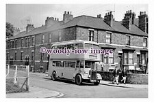 gw0484 - BLS Bus NMU 777 to Stainforth at Goole in 1963 - photograph