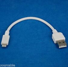 10cm Quick Charger Fast Charging ONLY USB Cable WHITE 4 iPad Pro Air 2 mini 4 3