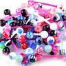 50 Mixed Tongue Tounge Nipple Ear Ring Barbell Body Piercing Rewelry