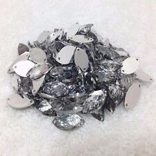 50 pcs x Sew On 7x15 mm Acrylic Rhinestones Clear Color Navette Shape
