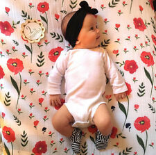 """1 Cotton Muslin Baby Swaddle Blanket Wrap 120x120cm 47"""" x 47""""  Floral For Girls"""