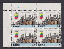 IRELAND, Scott #708: Plate Block, MNH - 1988 Dublin