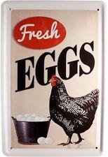 Fresh Eggs Breakfast Ei Metallschild 20x30 Retro Reklame Blechschild 552