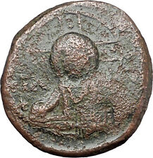 JESUS CHRIST Class A2 Anonymous Ancient 1025AD Byzantine Follis Coin i48274