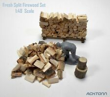 Split Firewood 1:48 / S & O Scale Diorama Model Scenery Display Accessories Set