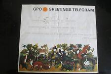 1966 HARRY TITCOMBE GPO GREETINGS TELEGRAM BERESFORD EGAN ART EXHIBITION   2
