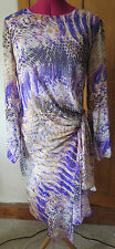BNWT M & S TWIGGY COLLECTION DRESS SIZE 16 EUR 44 LINED CHIFFON LONG SLEEVES FAB