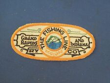 Vintage The Fishing Line Grand Rapids & Indiana Railway Train Sew On Patch