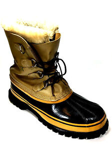 Vintage kaufman Caribou Wool Lined Winter Boots. Size 12 US.