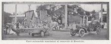 D6716 Carri mascherati al carnevale di Honolulu - Stampa d'epoca - 1909 print
