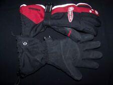 Ski-Doo Snowmobile Gloves Bombardier Black Red Size Medium