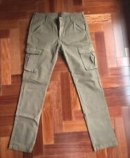 Mens AG Slim Fit Cargo Casual Pants W. 31 - The Voyager Olive Green / Brown