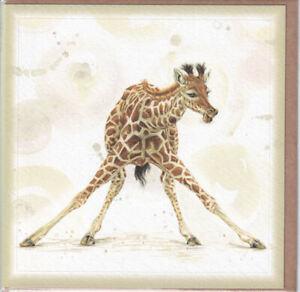Giraffe Greetings Card birthday greeting