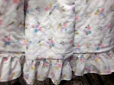 Floral Twin Bedspread Lightweight White Multi Color Color Flowers Shabby Cottage