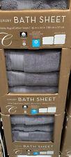 Charisma Grey Bath Sheet - 100% Hydro Cotton - Towel