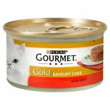 12x Gourmet Gold Savoury Cake Beef 85g 12296341