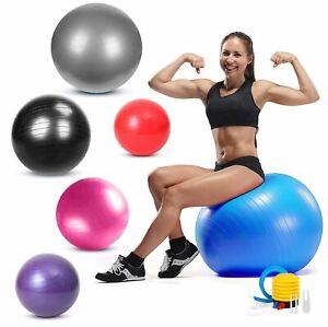 Exercise Gym Ball Anti-Burst Pilates Yoga Core Birthing Training With Pump