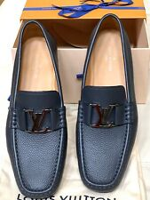 New Men's Louis Vuitton Montaigne Loafer Blue Grey US size 8