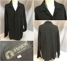 Messori Coat XXL Gray Wool Viscose Nylon 4b Made in Italy Mint YGI 7202