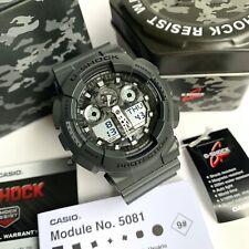 Casio G-Shock * GA100CF-8A Camo Face Grey Resin Watch for Men Ivanandsophia
