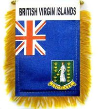 British Virgin Islands Mini Banner Flag Car & Home Window Mirror Hanging 2 Sided