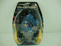 Coby Ultra Slimline Sports AM/FM Headphone Radio CX-22 Yellow Gray