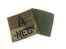 LaserCut Patch - Bloodtype A-NEG (NIR) - MultiCam MC