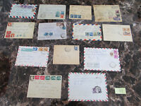 Stunning Lot of 13 Italy Covers Postal History to USA1922-1962