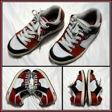 4f6aa03d7f Etines Red White Black Althetic Skater Skateboard Casual Shoe Sz (8)