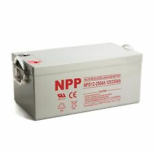 NPP 12V 250Ah Wind Solar Power Storage Deep Cycle AGM Battery Replaces UPG UB8D