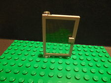 1x LEGO Classic Old Light Gray Door 1x4x5 Trans-Clear Glass Left 73436c01