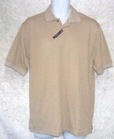 Arrow Mens Polo Shirt Classic Short Sleeve Plaid Cotton Polyester size S NEW