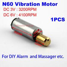 DC 3V 6V 4100RPM N60 Motor Strong Vibration Vibrating Motor DIY Massager  Alarm