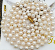 "NEW Beautiful! 7-8mm White Akoya Cultured Pearl Necklace 25"" YL0938"