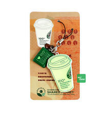 star376 starbucks coffee green cup mug shared planet cell phone charm strap NEW