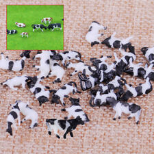 25pcs Scale Model Farm Animal Figures 1/150 Cow for Building Layout Well Painted