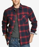 Weatherproof Men Blue Red Plaid Flannel Sweatshirt Long Sleeve XL